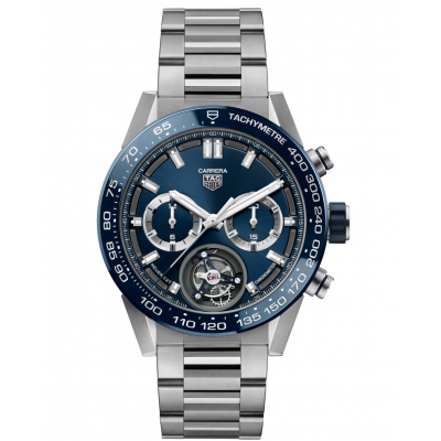 TAG Heuer Carrera TOURBILLON CAR5A8C.BF0707 HEUER 02, Vode odolnosť 100M, 45 mm