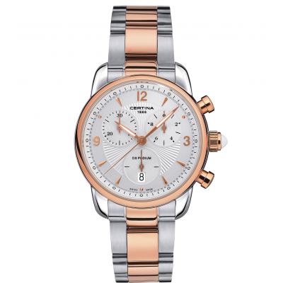 Certina DS Podium Lady C025.217.22.017.00 Arabic Numerals, Quartz Chronograph, 34.5 mm