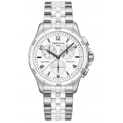 Certina DS First Lady C030.217.11.017.00 Keramika, Quartz Chronograf, 38 mm