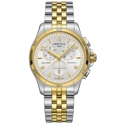 Certina DS First Lady C030.217.22.037.00 Vode odolnosť 100M, Quartz Chronograf, 38 mm