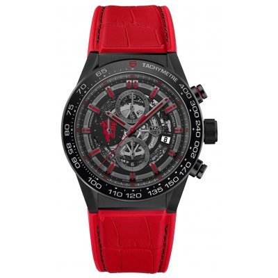 TAG Heuer Carrera Heuer 01 CAR2A1J.FC6416 MANCHESTER UNITED, Automat Chronograf, 45 mm