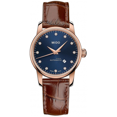 Mido Baroncelli Midnight Blue Lady M76003658 Diamanty, Automat, 29 mm