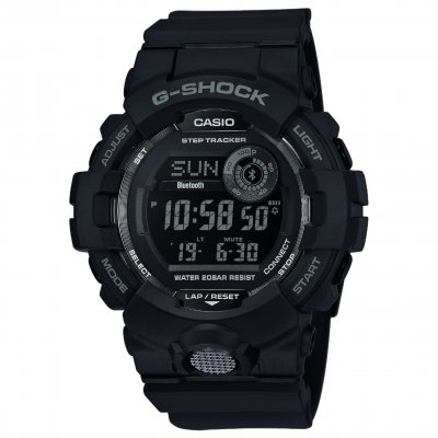 Casio G-SHOCK GBD 800-1B Bluetooth, Krokomer, Vode odolnosť 200M, 54.10 mm