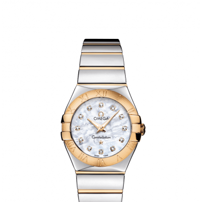 Omega Constellation 123.20.27.60.55.004 Zlato & Diamanty, Quartz, 27 mm