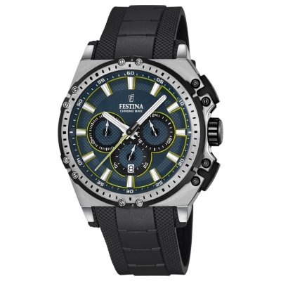 Festina Chrono bike F16970/3 Vode odolnosť 100M, Quartz Chronograf, 44 mm