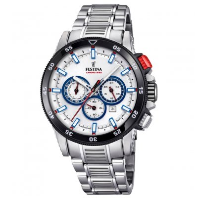 Festina Chrono bike F20352/1 Vode odolnosť 100M, Quartz Chronograf, 44 mm