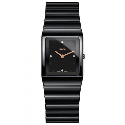 Rado Ceramica R21 702 72 2 Ceramic, Diamonds, Quartz, 22.9 x 31.7 mm