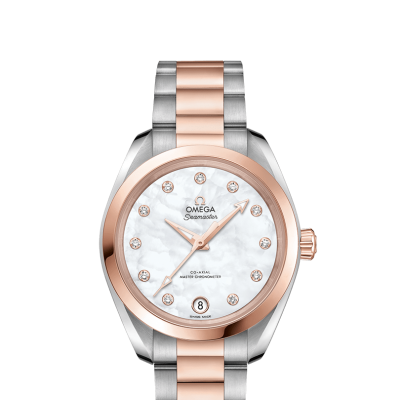 Omega Seamaster Aqua Terra 150M 220.20.34.20.55.001 Gold&Diamonds, Automatic, 34 mm