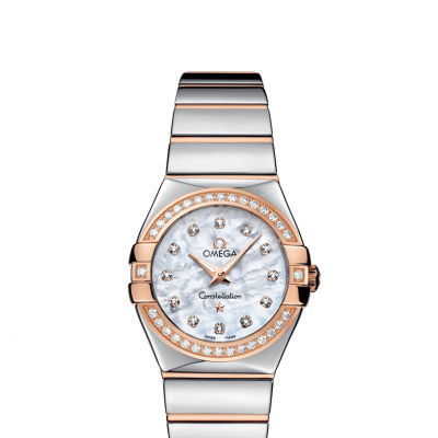 Omega Constellation 123.25.27.60.55.005 Zlato & Diamanty, Quartz, 27 mm