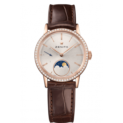 Zenith ELITE Lady Moonphase 33 mm 22.2330.692/01.C713 Moonphase, Diamonds,  Gold, Automatic, 36 mm