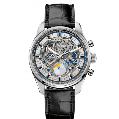 Zenith CHRONOMASTER El Primero Grande Date Full Open 03.2530.4047/78.C813 Moonphase, Skeleton, Water resistance 100M, 45mm