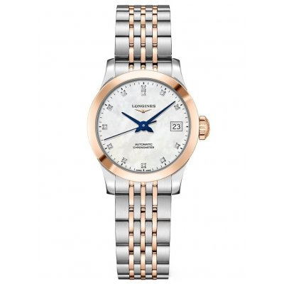 Longines Record L23205877 Diamanty, Automat, 26 mm