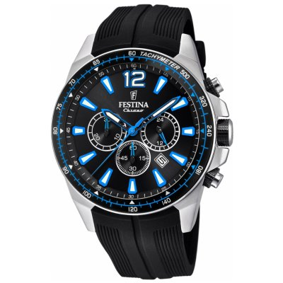 Festina The Originals F20376/2 Quartz, Chronograf, Vode odolnosť 100M, 46.8 mm