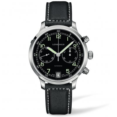 Longines Heritage L27904530 Military 1938, Automat Chronograf, 42 mm