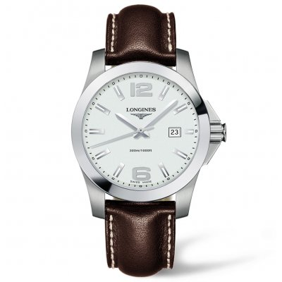 Longines Conquest L37594765 XL Remienok, Quartz, 41 mm