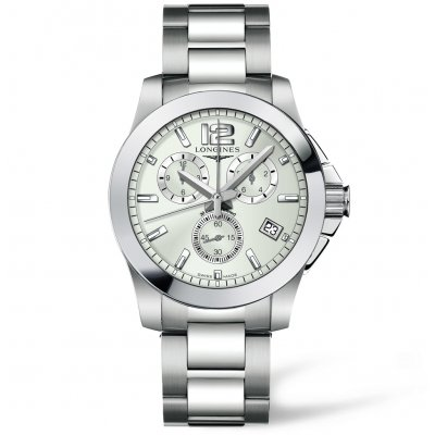 Longines Conquest L36604766 Vode odolnosť 300M, Quartz Chronograf, 41 mm