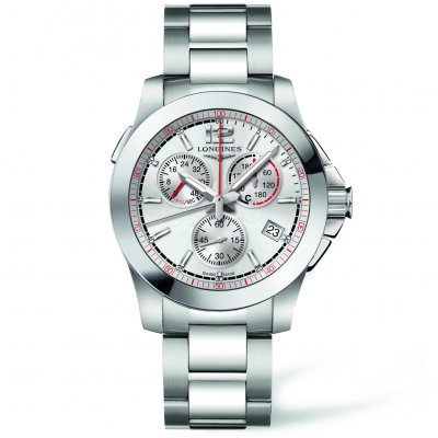 Longines Conquest L37014766 Jumping 1/100th, Quartz Chronograf, 41 mm
