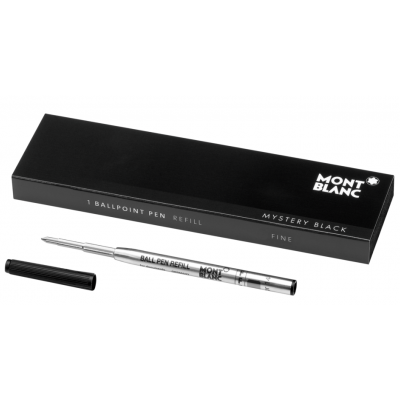 Mont Blanc 105154 Fillers, Ballpoint, Mystery Black, (F)