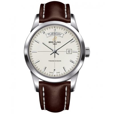 Breitling Transocean Day & Date A4531012/G751/437X Vode odolnosť 100M, Automat, 43 mm