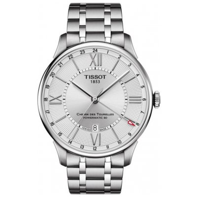 Tissot T-Classic Chemin Des Tourelles T099.429.11.038.00 Powermatic 80, GMT, 42 mm