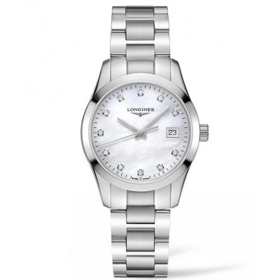 Longines Conquest Classic L23864876 Diamanty, Quartz, 34 mm