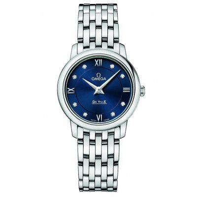 Omega De Ville Prestige 424.10.27.60.53.001 Diamanty, Quartz, 27.4 mm