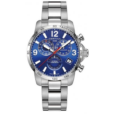 Certina DS Podium C034.654.11.047.00 Chronometer, Quartz Chronograf, 42 mm
