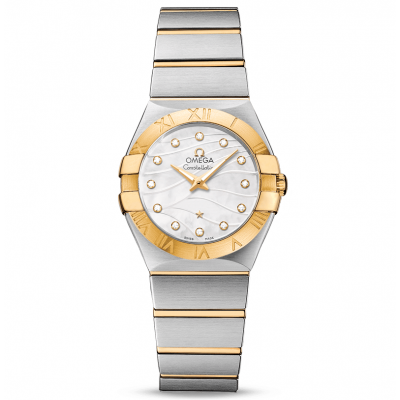 Omega Constellation Manhattan 123.20.27.60.55.005 Zlato & Diamanty, Quartz, 27 mm