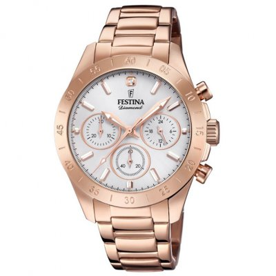 Festina Boyfriend Diamond F20399/1 Diamant, Quartz, Chronograph, 38.50 mm