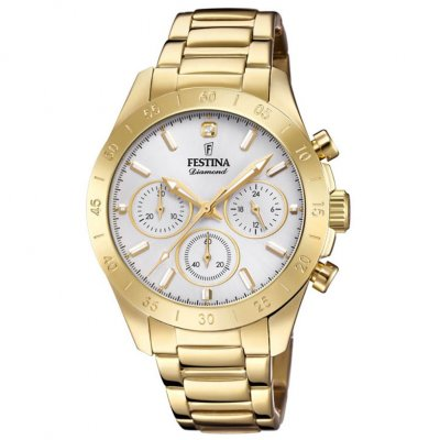 Festina Boyfriend Diamond F20400/1 Diamant, Quartz, Chronograph, 38.50 mm