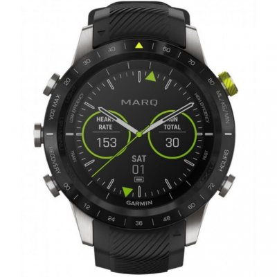 Garmin MARQ Athlete 010-02006-16 46 mm, Titanium case, Water resistance 100 M