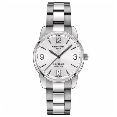 Certina DS Podium Lady C034.210.44.037.00 Quartz, Vode odolnosť 100 M, 33 mm