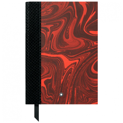 Mont Blanc Fine Stationery 119501 Notes 146, Rouge et Noir, lines, 15 x 21 cm, A5