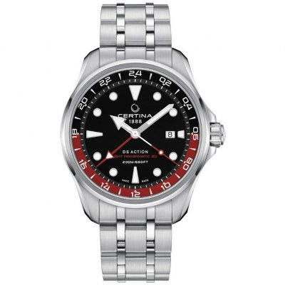 Certina DS Action GMT C032.429.11.051.00 Powermatic 80, Vode odolnosť 200M, 43mm