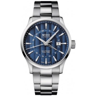 Mido Multifort Dual Time M0384291104100 Powermatic 80, GMT, 42 mm