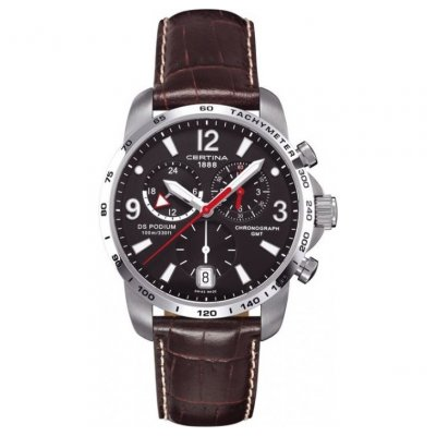 Certina DS Podium C001.639.16.057.00 GMT, Quartz Chronograf, 42 mm