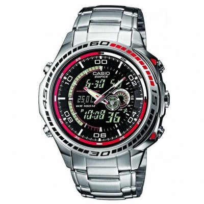 Casio EDIFICE EFA 121D-1A Vode odolnosť 100M, Quartz Chronograf, 46 mm