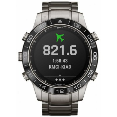 Garmin MARQ Aviator 010-02006-04 46 mm, Titanium case, Water resistance 100 M