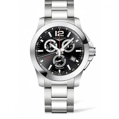 Longines Conquest L38004566 Vode odolnosť 300M, Quartz Chronograf, 44 mm