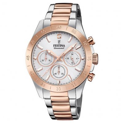 Festina Boyfriend Diamond F20398/1 Diamant, Quartz, Chronograph, 38.50 mm
