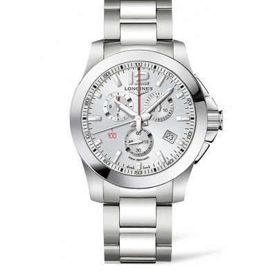 Longines Conquest L38004766 Vode odolnosť 300M, Quartz Chronograf, 44 mm