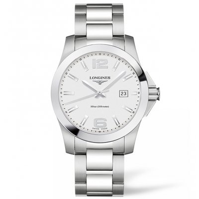 Longines Conquest L37594766 Water resistance 300M, Quartz, 43 mm