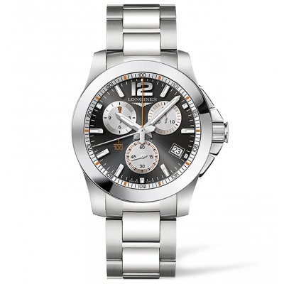 Longines Conquest L37004796 ROLAND GARROS, Quartz Chronograf, 41 mm