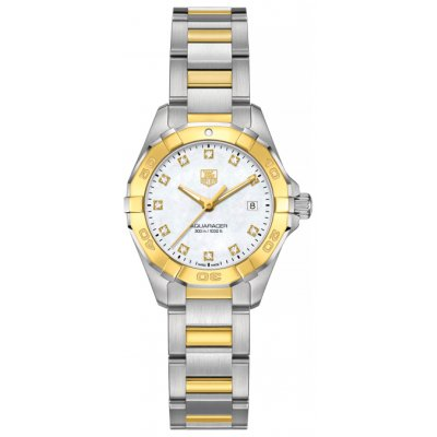 TAG Heuer Aquaracer WAY1451.BD0922 Gold&Diamonds, Quartz, 27 mm