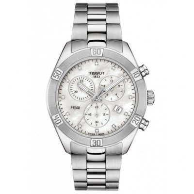 Tissot T-Classic PR 100 T101.917.11.116.00 Quartz Chronograf, Diamanty, 38 mm