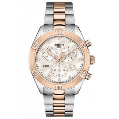 Tissot T-Classic PR 100 T101.917.22.116.00 Quartz Chronograf, Diamanty, 38 mm
