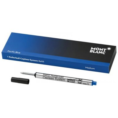 Mont Blanc 113778 Tuhy, Rollerball, Capless System, Blue, (M)