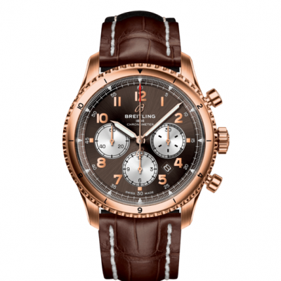 Breitling Aviator 8 B01 Chronograph 43 RB0119131Q1P1 In-house calibre, Gold, 43 mm