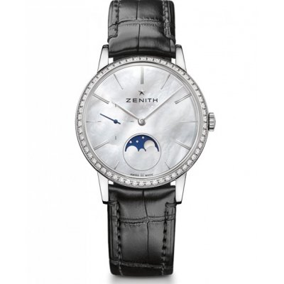 Zenith ELITE Lady Moonphase 36 mm 16.2320.692/80.C714 Mesačné fázy, Diamanty, Automat, 36 mm