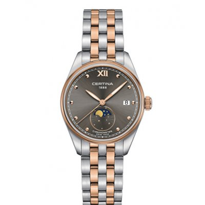 Certina DS-8 C033.257.22.088.00 Quartz, Chronometer, Mesačné fázy, 32 mm